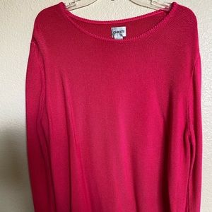 Chico's Long Sleeve Sweater, Size: XL (3) Salmon